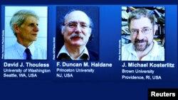 David J. Thouless, F. Duncan Haldane y J. Michael Kosterlitz, fueron reconocidos por la Real Academia Sueca de Ciencias.