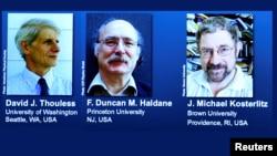 Tiga ilmuwan kelahiran Inggris yang dinyatakan sebagai pemenang Hadiah Nobel Fisika Selasa (4/10).