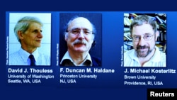 هر سه دانشمند برندۀ جایزۀ نوبل فزیک ۲۰۱۶ بریتانیایی تبار ان