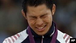 31일 런던 올림픽 남자 유도 81kg 급에서 우승한 한국의 김재범 선수.