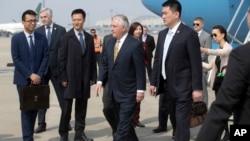 美国国务卿蒂勒森星期六中午抵达北京