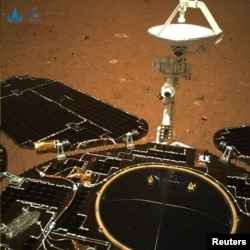An image taken on Mars by Chinese rover Zhurong of China's Tianwen-1 mission is seen in this handout image released by the China National Space Administration (CNSA), May 19, 2021. CNSA/Handout via REUTERS
