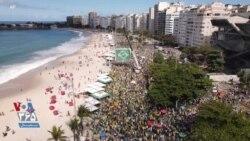 حامیان رئيس جمهوری برزیل با رقص و پایکوبی به سیستم رایگیری کشور اعتراض کردند