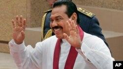Presiden Mahinda Rajapaksa akan mencalonkan diri kembali untuk masa jabatan yang ketiga (foto: dok).