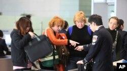 图为中国上海机场的安检处。(资料照)