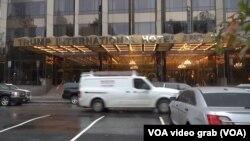 Ulaz u Trumpov hotel u New Yorku