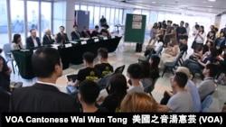 香港大学学生会举行新任校长论坛 (美国之音汤惠芸)
