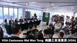香港大學學生會舉行新任校長論壇 (攝影:美國之音湯惠芸)