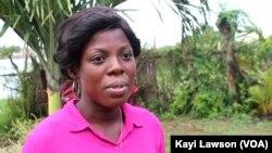 Sévérine Akakpo à Lomé, 7 octobre 2020. (VOA/Kayi Lawson)