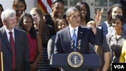 Presiden Obama kembali mendesak agar Kongres AS segera meloloskan RUU Penciptaan Lapangan Kerja (6/10).
