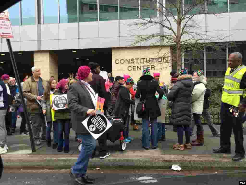 Marcha das Mulheres em Washington DC por direitos iguais. Jan 21, 2017
