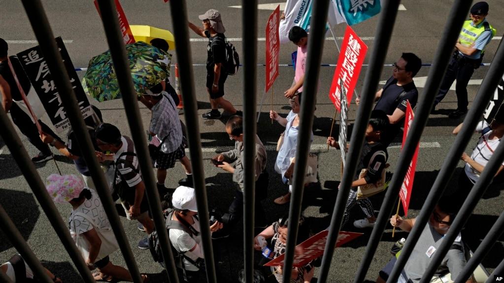 香港民眾5月27號舉行紀念天安門鎮壓29週年的活動。