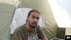 Tarek Hefny in his tent on Cairo's Tahrir Square