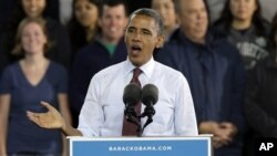 President Barack Obama në Milwaukee, Wisconsin, 22 shtator 2012.