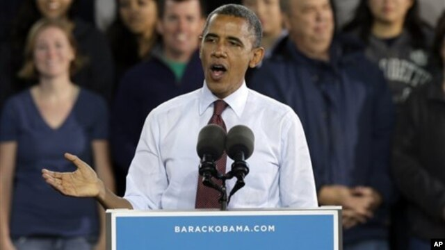 President Barack Obama speaks during a campaign stop in Milwaukee, Wisconsin, September 22, 2012.
