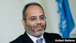 FILE - U.N. Executive Secretary of the Economic Commission for Africa Carlos Lopes