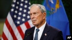 """El ex alcalde de Nueva York, Michael Bloomberg, de 77 años, prevé lanzar una millonaria campaña publicitaria en estados clave del país. """"Me postulo para derrotar a Donald Trump y reconstruir EE.UU."""", escribió en su portal de campaña. Foto de archivo. AP."""