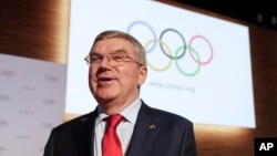 International Olympic Committee President Thomas Bach smiles at the end of the 133rd IOC session in Buenos Aires, Argentina, Oct. 9, 2018.