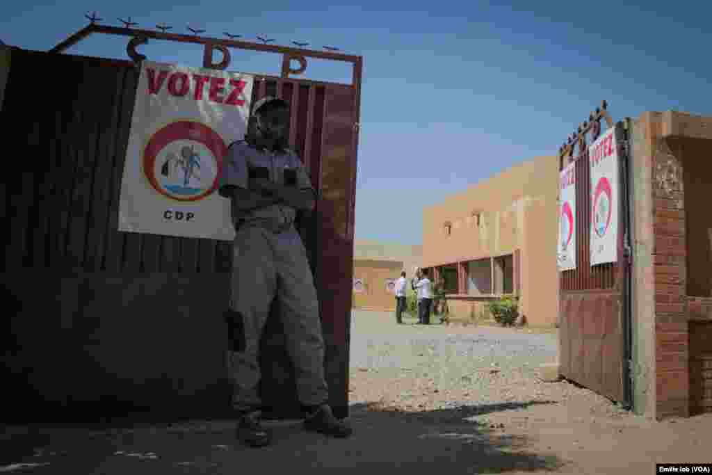 The entrance of the headquarter of Burkina Faso's former ruling party, the Congress for Democracy and Progress (CDP), in Ouagadougou.