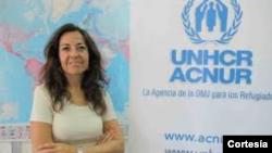 María Jesús Vega, portavoz de ACNUR