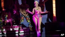 La chanteuse Nicki Minaj lors des European MTV Awards à Bilbao, en Espagne, le 4 novembre 2018.