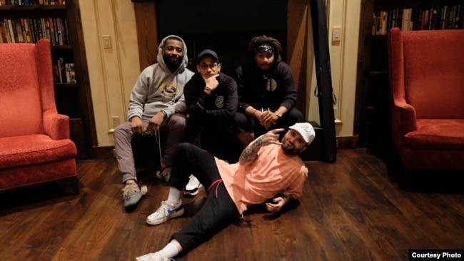 Afgan berkolaborasi dengan produser dan musisi AS di studio EMPIRE di San Francisco, California (dok: EMPIRE/Trinity Optima Production)