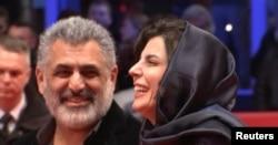 مانی حقیقی در کنار لیلا حاتمی روی فرش قرمز جشنواره برلین
