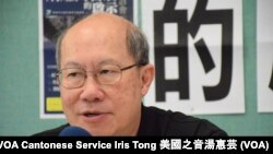 時事評論員、香港中文大學中國研究中心客席教授林和立 (攝影:美國之音湯惠芸)