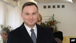 Le président de la Pologne Andrzej Duda a Krakow, en Pologne, le 25 octobre 2015