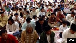 Indonesian community Eid prayer, NOVA campus, VA