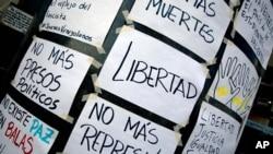 Llamados a mayor libertad y no más represión en Venezuela.