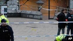 사건현장을 조사하는 벨기에 경찰