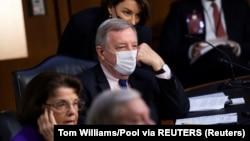 Članovi Odbora za pravosuđe američkog Senata tokom sednice o potvrđivanju nominacije sudije Ejmi Koni Beret (Tom Williams/Pool via REUTERS)
