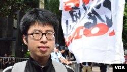 香港民進黨臨時幹事會幹事長楊繼昌。(美國之音湯惠芸拍攝)