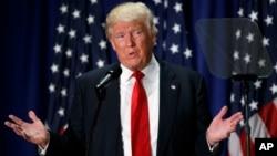 Ứng viên Tổng thống Đảng Cộng hòa Donald Trump phát biểu về việc lựa chọn trường học tại Học viện Nghệ thuật và Khoa học Xã hội Cleveland, ngày 8 tháng 9 năm 2016.