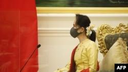 缅甸领导人昂山素姬。