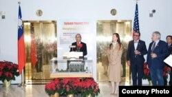 台灣駐美代表高碩泰在代表處華盛頓辦公大樓啟用30週年茶會上致詞(TECRO)