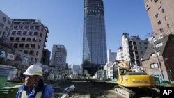 도쿄 시내 건설현장 . (자료사진)