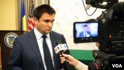 Minister Klimkin interview Myroslava Gongadze