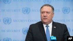 """El secretario de Estado de Estados Unidos, Mike Pompeo dijo que la comisión supondrá un """"análisis importante de cómo pensamos respecto a los derechos humanos dentro nuestros esfuerzos diplomáticos"""","""