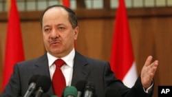 مسعود بارزانی، رئیس فعلی اقلیم کردستان عراق و رهبر حزب دموکرات کردستان عراق ا