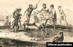 Ảnh được cho là của chó KhoiKhoi/Hottentot trong sách 'Livingstone's Missionary Travels in South Africa' của David Livingstone