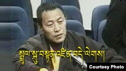 中国著名的政治犯之一、西藏僧侣丹增德勒仁波切 (资料照片)
