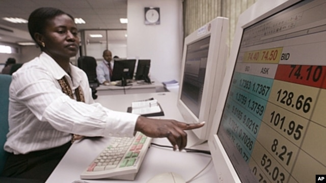 Cooperative Bank treasurer Caroline Mugadi in the Nairobi trading room. (file photo)