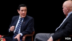 馬英九在紐約亞洲協會與孔杰榮對談(美國之音方冰、章真)