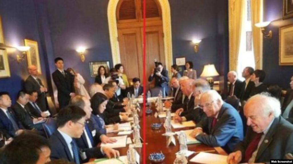 美中兩國官員日前在美國首都華盛頓舉行貿易談判(網絡截圖)