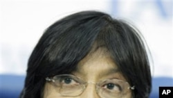 United Nations human rights chief Navi Pillay (file photo)