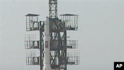 Vụ phóng tên lửa của Bắc Triều Tiên ở ri-Musudan, ngày 7/4/2009. Cả hai vụ phóng không gian của Bắc Triều Tiên trước đây đều thất bại