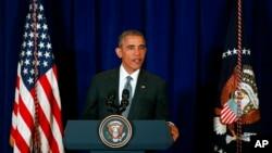 Barack Obama à Kuala Lumpur, en Malaisie, le 22 novembre 2015. (AP Photo/Lai Seng Sin)