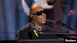 "Recording artist Stevie Wonder performs a medley during the taping of ""Stevie Wonder: Songs In The Key Of Life - An All-Star GRAMMY Salute"" concert at Nokia theatre in Los Angeles, California, Feb. 10, 2015."
